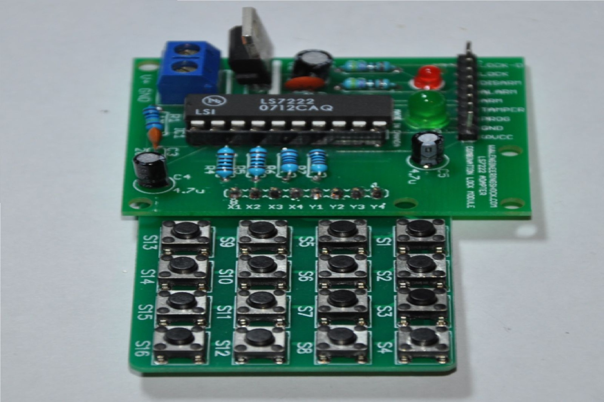 Ls7222 Keypad Mod Engineeringshock Electronics Electronic Circuit New Combination Lock Module Featuring The W 16 Button
